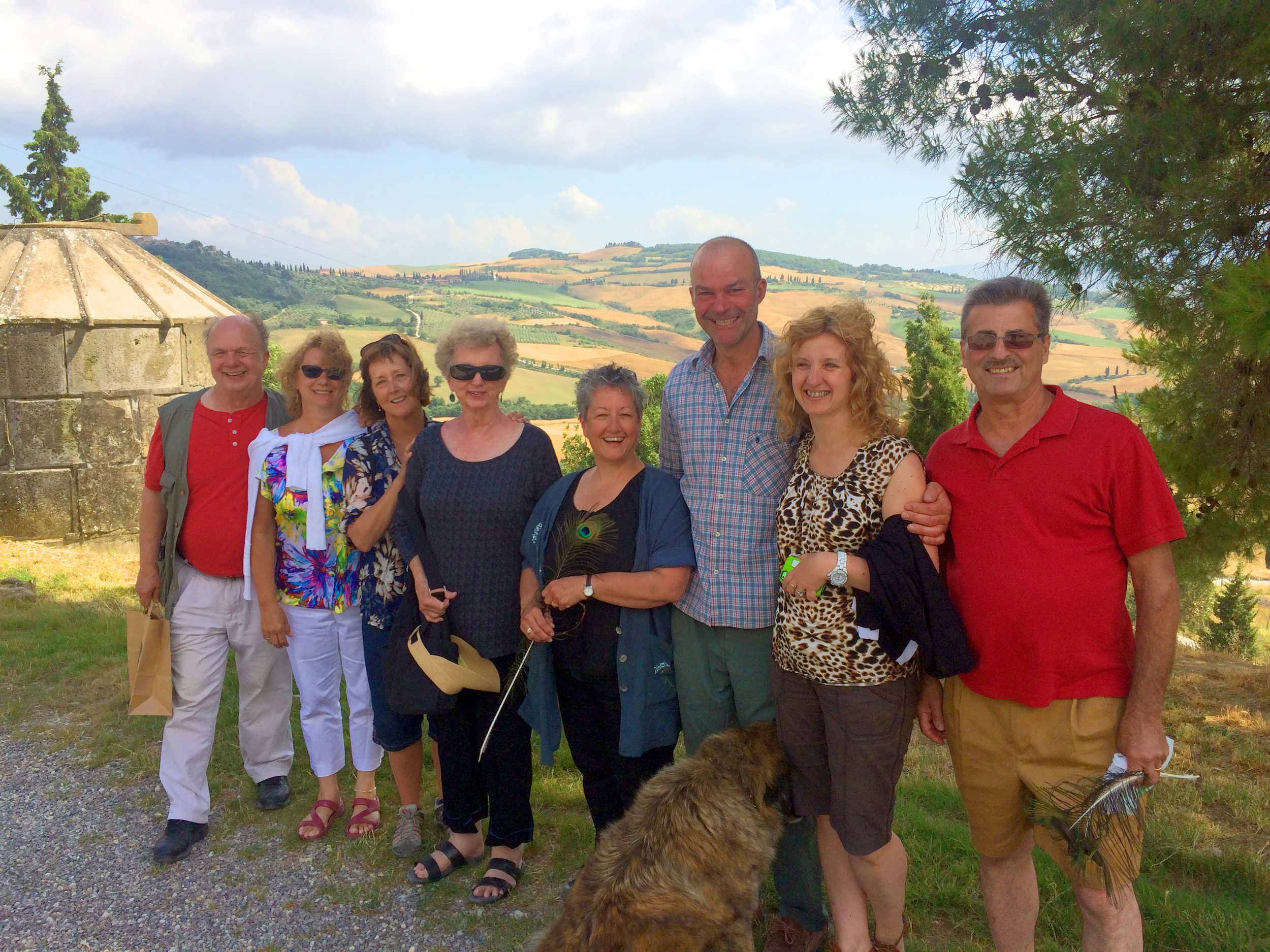 With Ulysses (the tall one) at Podere Il Casale