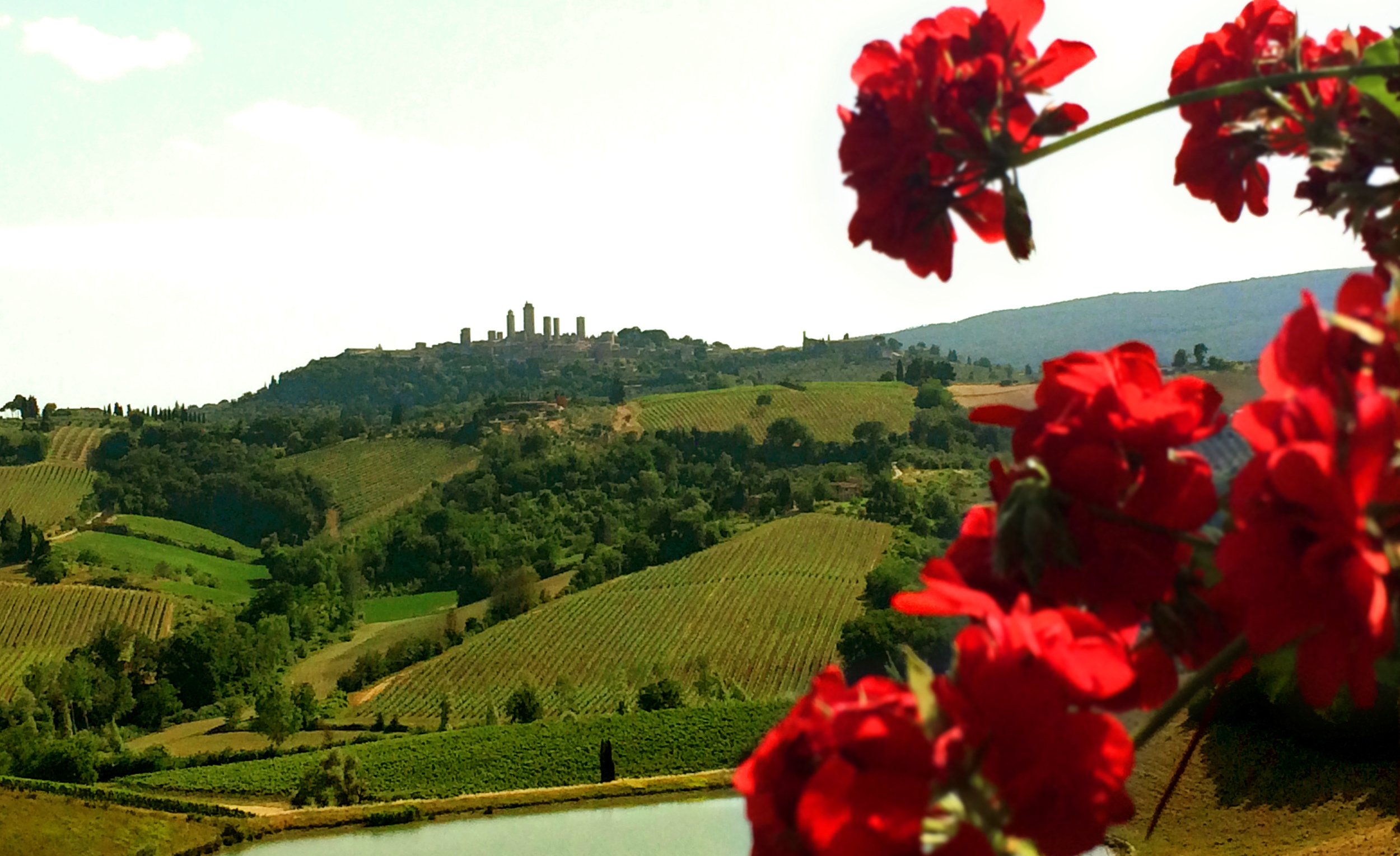 A view of San Gimignano