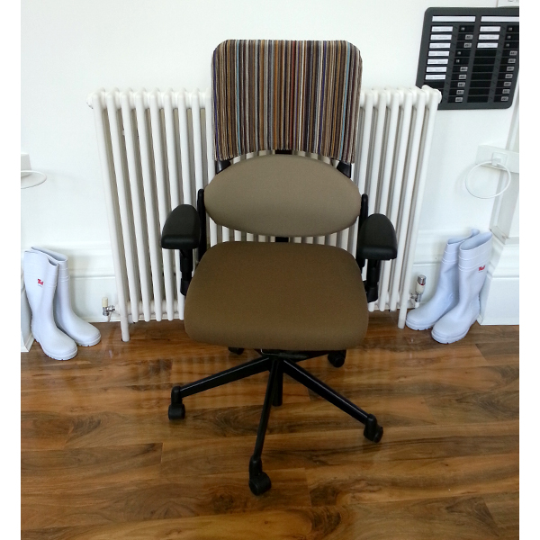 Individually Reupholstered Chairs - Epingle Stripe 001 Caramel