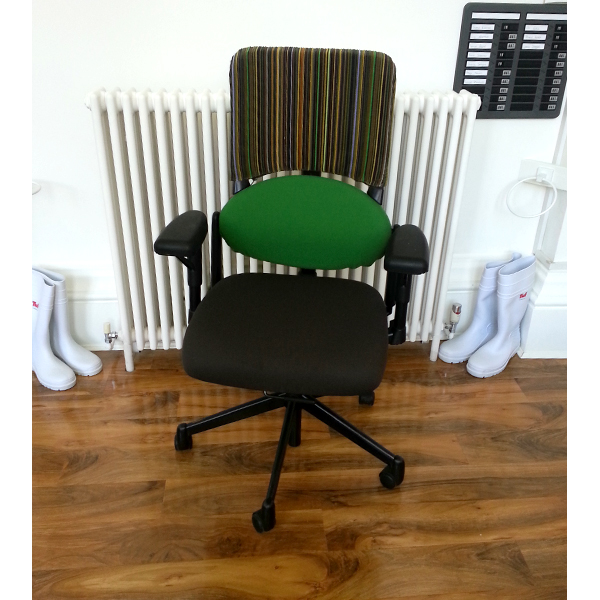 Individually Reupholstered Chairs - Epingle Stripe 005 Olive