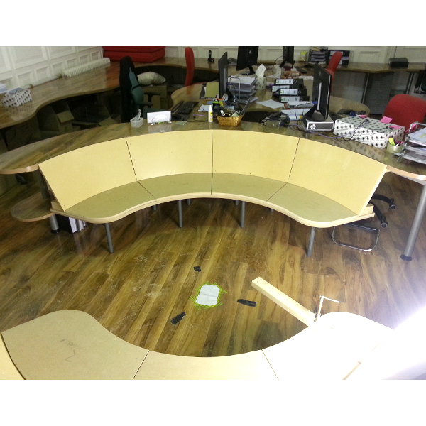 Circular Seating Area - Back and Seat Panels