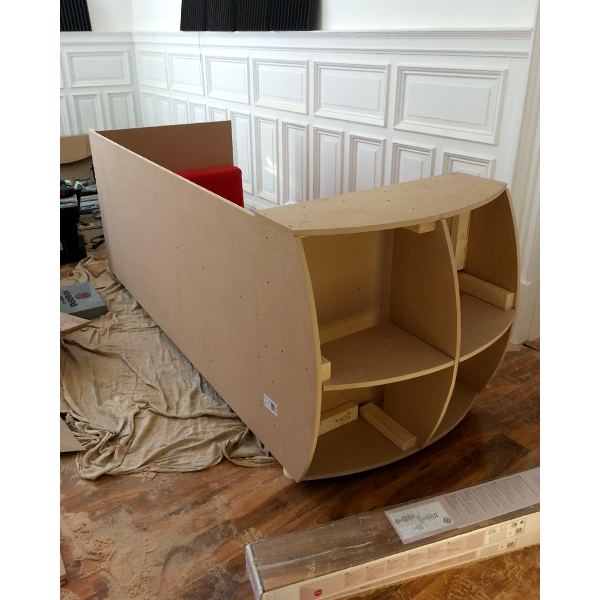 Telephone Box Sofa Structure - Upcycling the Sofa from the 'Old Office'