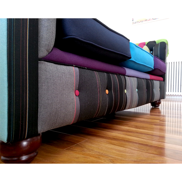 One-Off 'Herringbone and Colours' Paul Smith Upholstered Chesterfield