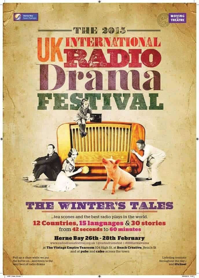 re-write this - I've just finished working as a project manager on Moving Theatre's Radio Drama Festival- The Winter's Tale in Herne Bay. This was the first of it's kind in the UK attracting entrants from all over the world. The festival was a fantastic success and we're beginning to think about next year!