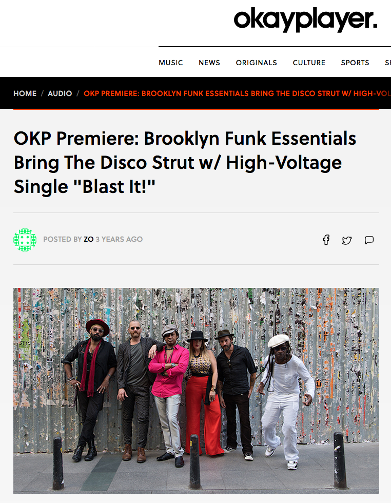 Okayplayer review of 'Blast It!' single (November 2015). Click image for link to article.