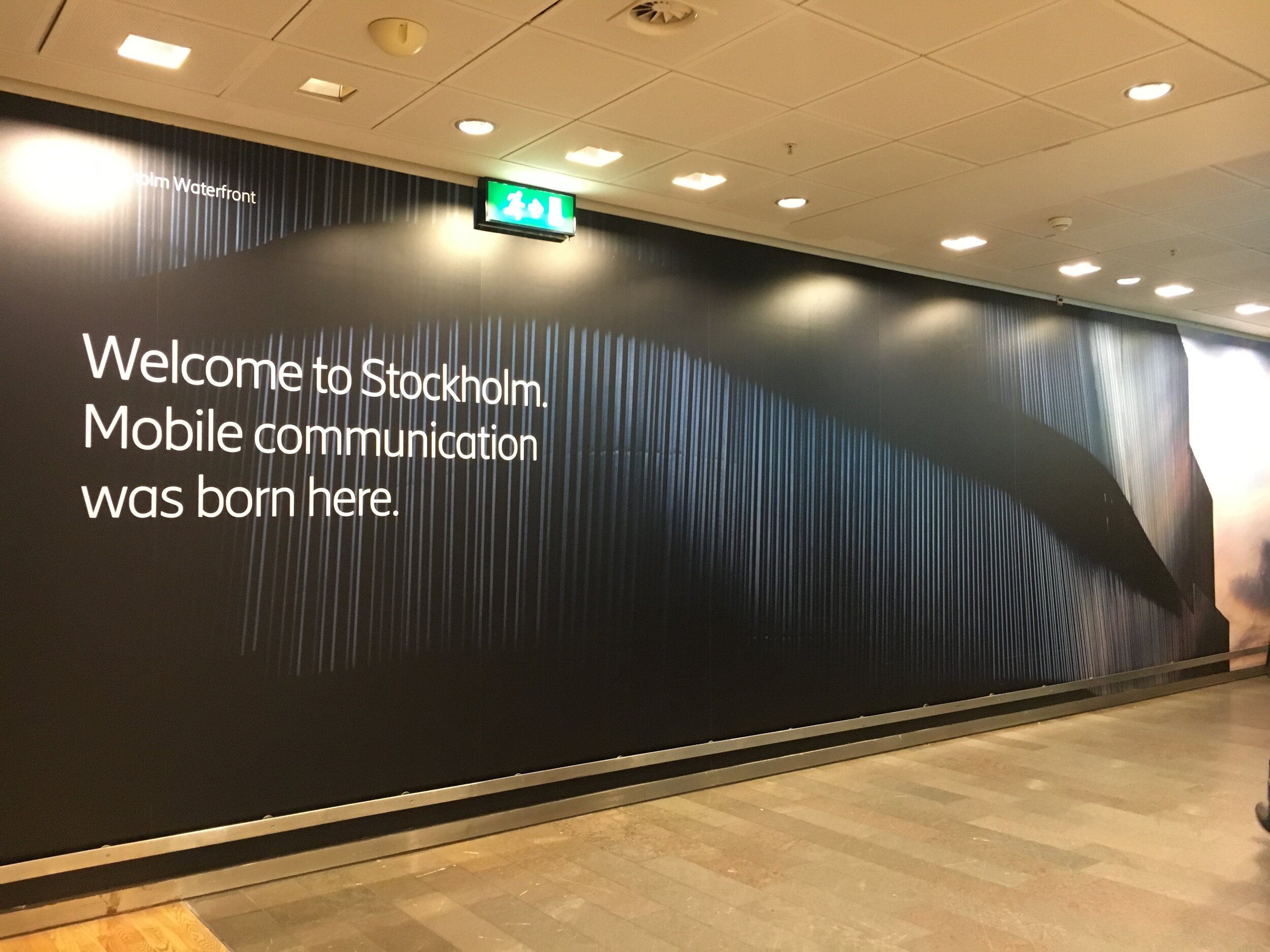 Big prints at Arlanda Airport Stockholm - Terminal 5