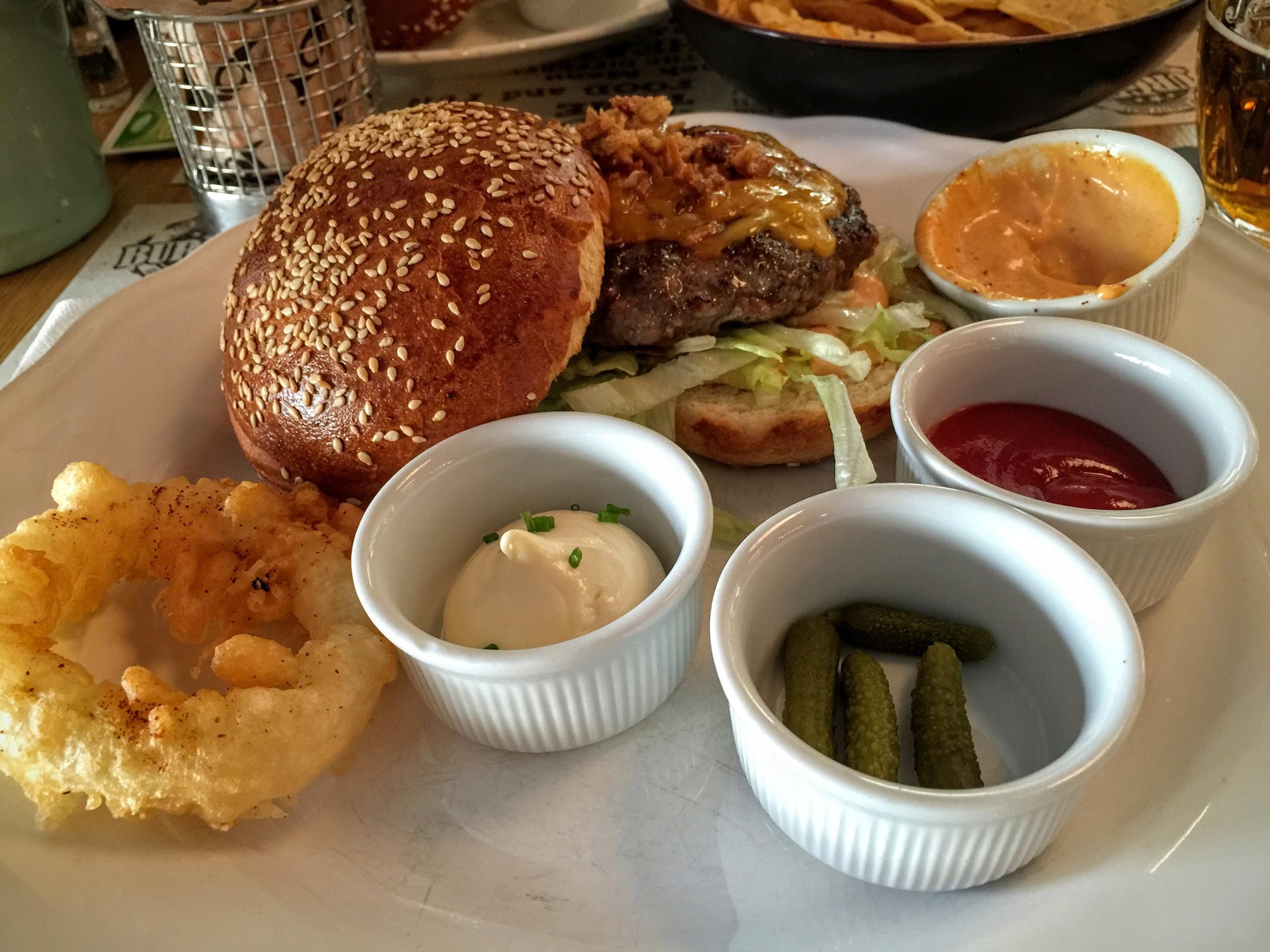 Joy Burger bar & grill cheeseburger plate.jpg