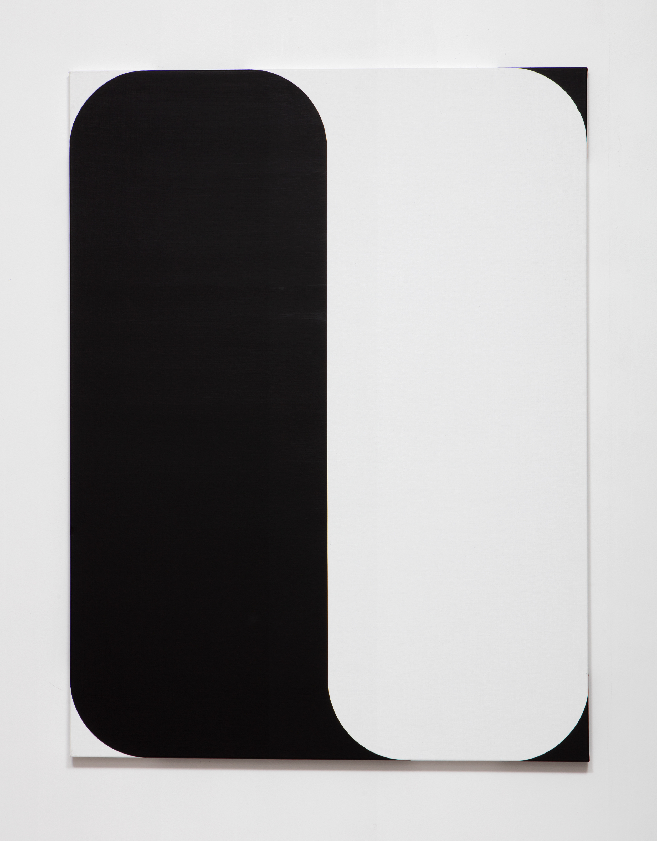 SLATE: [As] Image No. 4 (black and white)  , 2015 Rustoleum enamel on pre-fabricated linen stretcher 48 x 36 inches