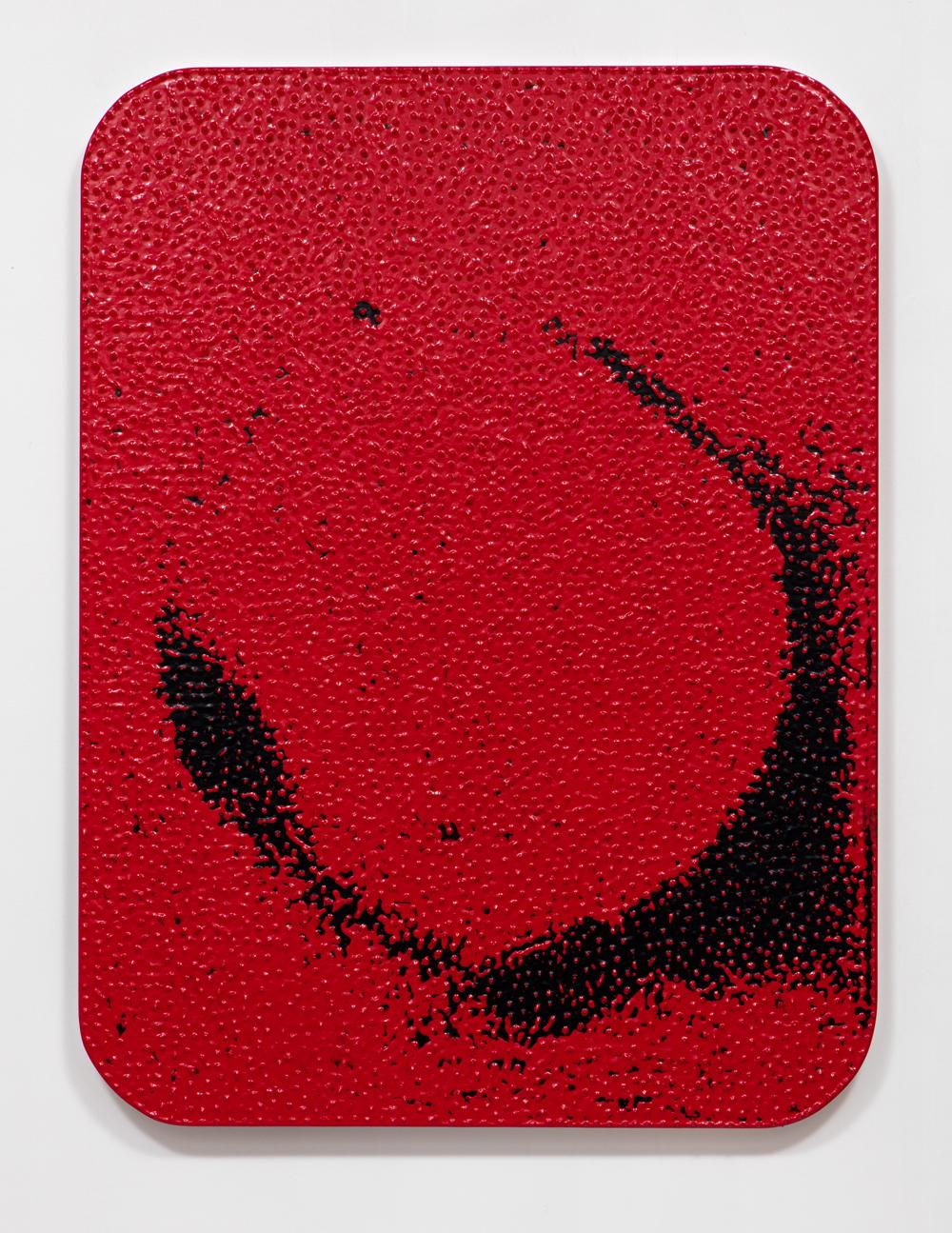 SLATE: Dip Painting No. 5 (1b, 1r, 1b, 1r)  , 2015 Valspar Reserve Semi-Gloss Interior Paint, Valspar Signature Satin Interior Painting and Dipping on custom panel 48 x 36 inches