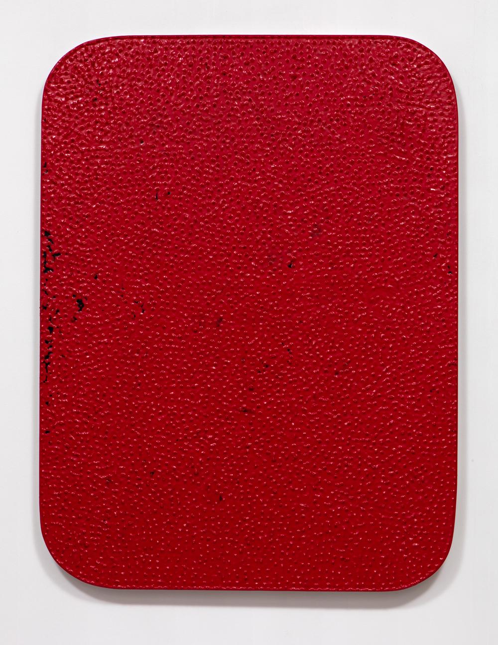 SLATE: Dip Painting No. 4 (1b, 1r, 1b, 1r)  , 2015 Valspar Reserve Semi-Gloss Interior Paint, Valspar Signature Satin Interior Painting and Dipping on custom panel 48 x 36 inches