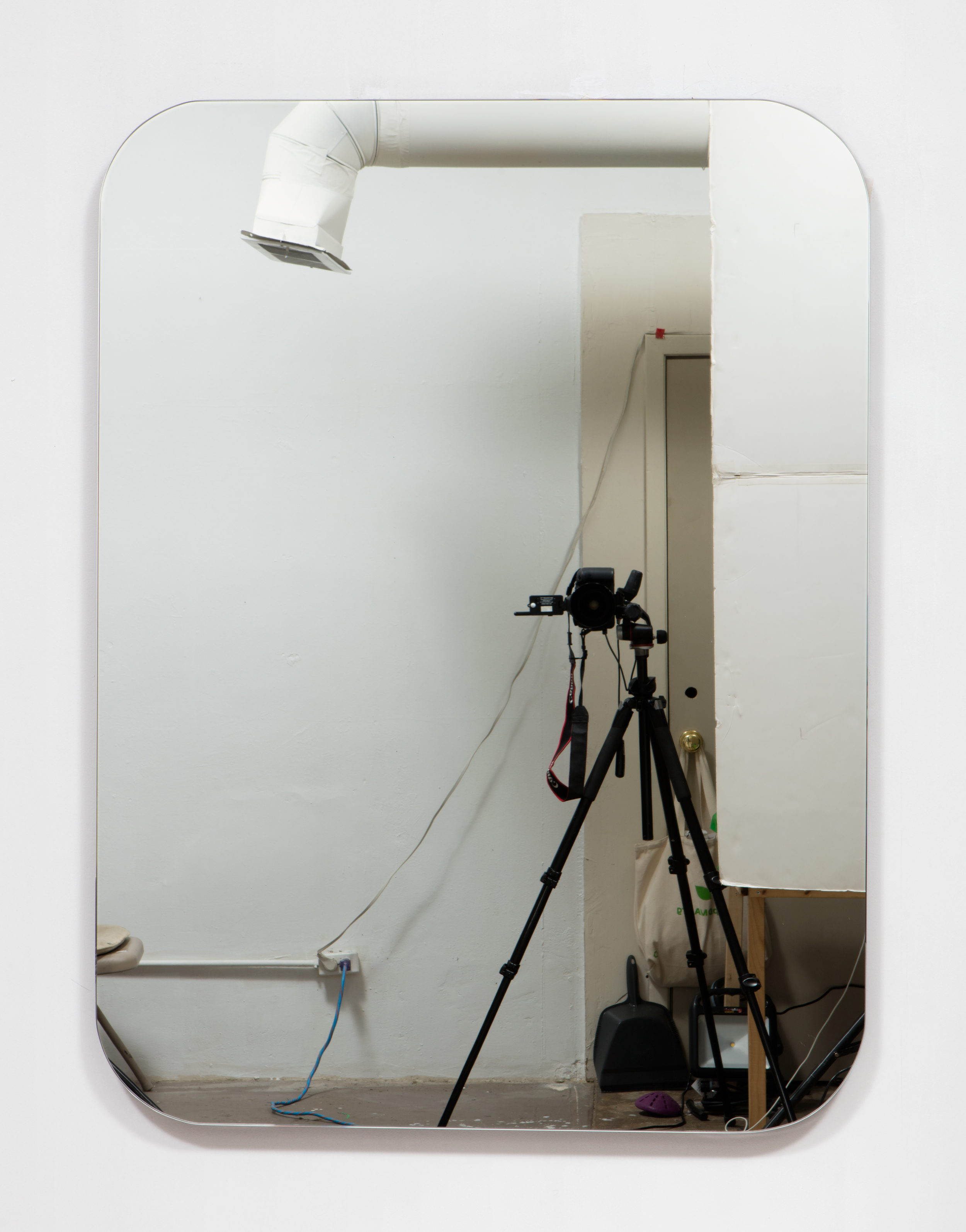 SLATE: Mirror AP  , 2015 Pre-fabricated mirror on custom mounting system 48 x 36 inches