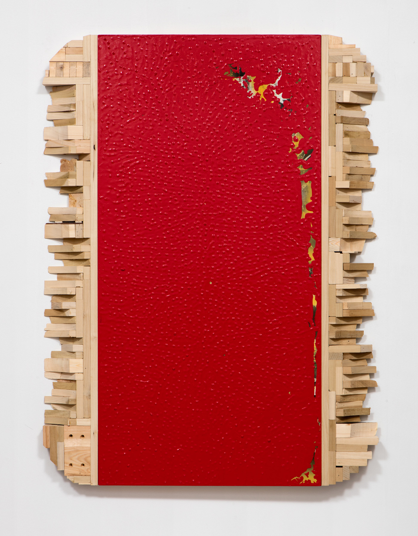 SLATE: Remnant No. 4 (dipped old painting and excess wood)  , 2015 Valspar paint, oil, and wood 48 x 36 inches