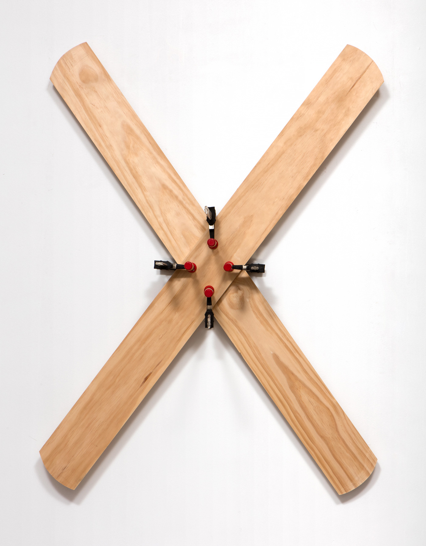 SLATE: Remnant No. 1 (excess wood)  , 2015 Wood and clamps 48 x 36 inches