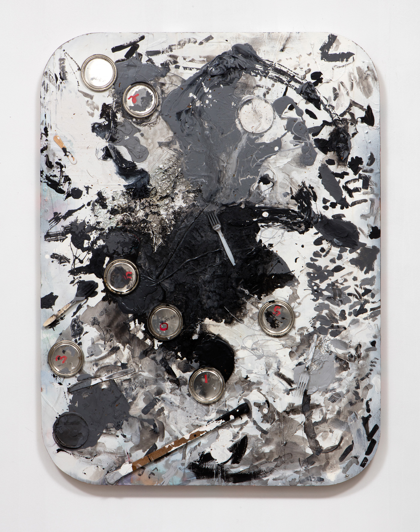 SLATE: Work Panel No. 1 (WCD Project Datsun 2015)  , 2015 Mixed media 48 x 36 inches