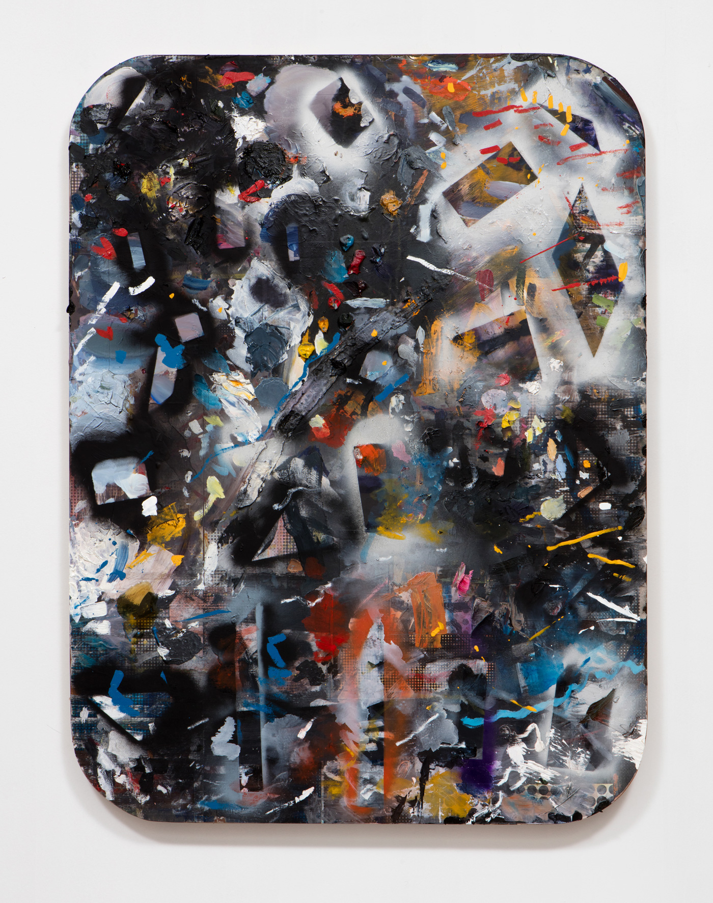 SLATE: Work Panel No. 3 (Erin Cluley Gallery 2015)  , 2015 Mixed media 48 x 36 inches