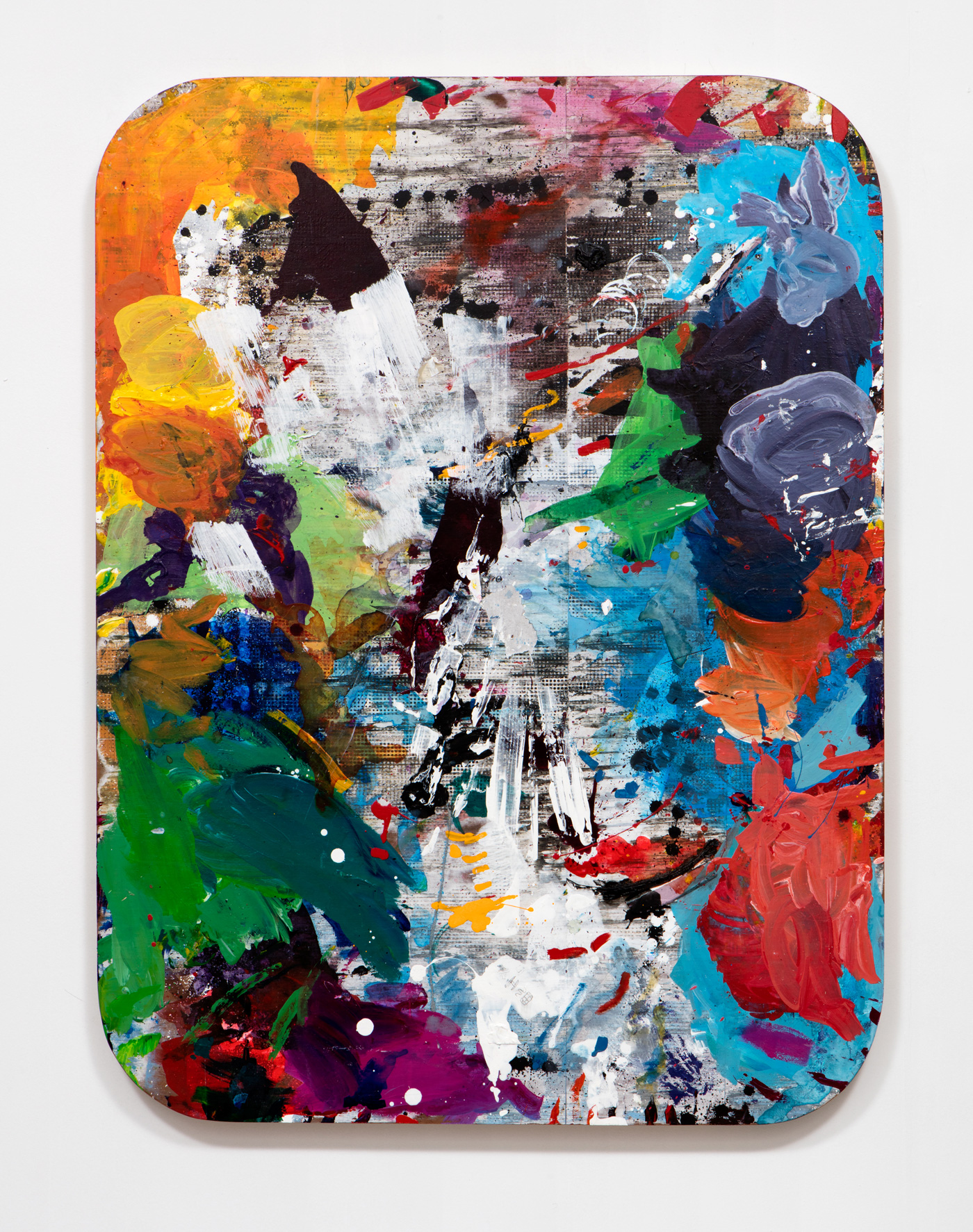 SLATE: Work Panel No. 5 (Erin Cluley Gallery 2015)  , 2015 Mixed media 48 x 36 inches