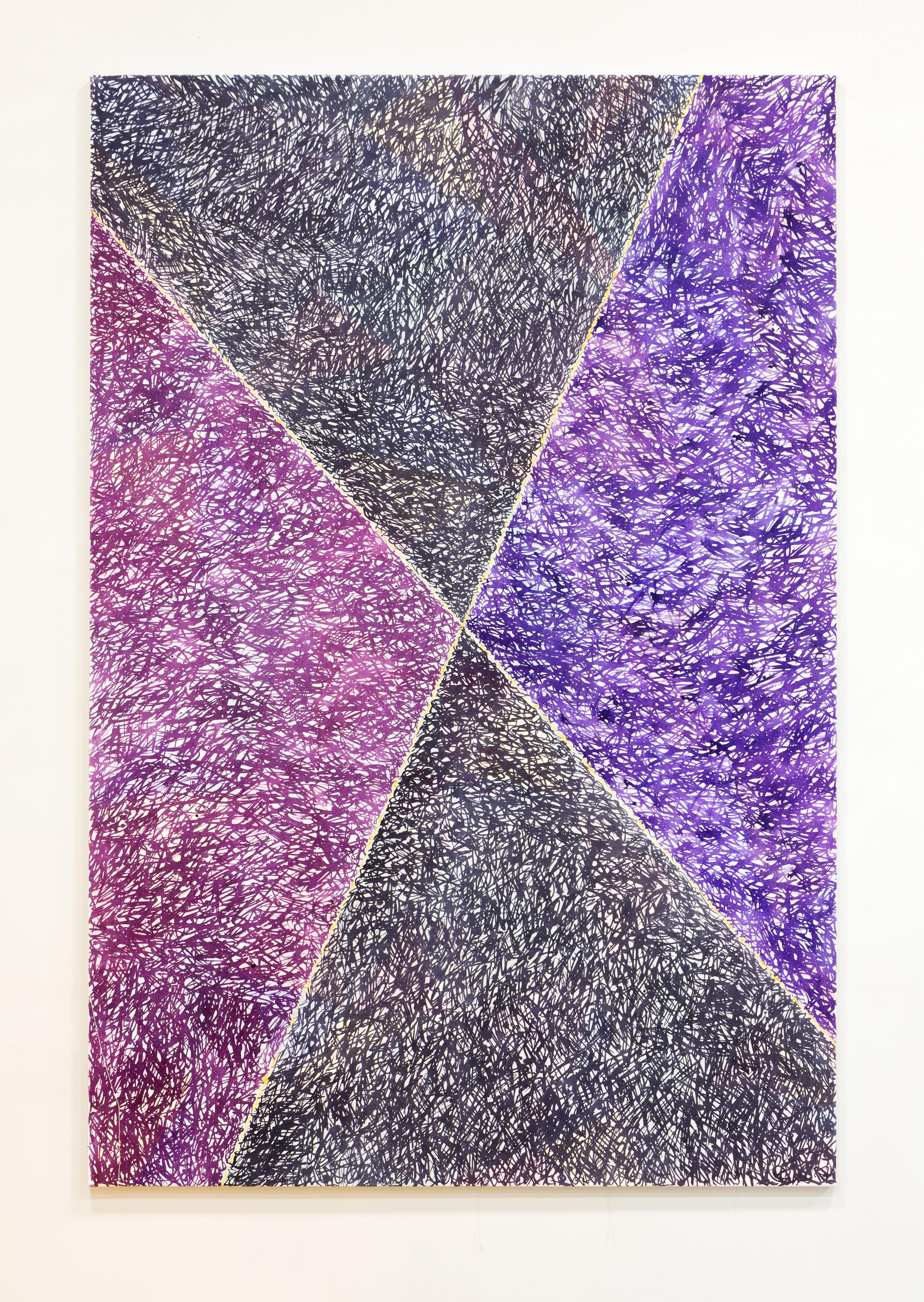 Taboada , 2016 acrylic ink on canvas 76.5 x 53.25 inches