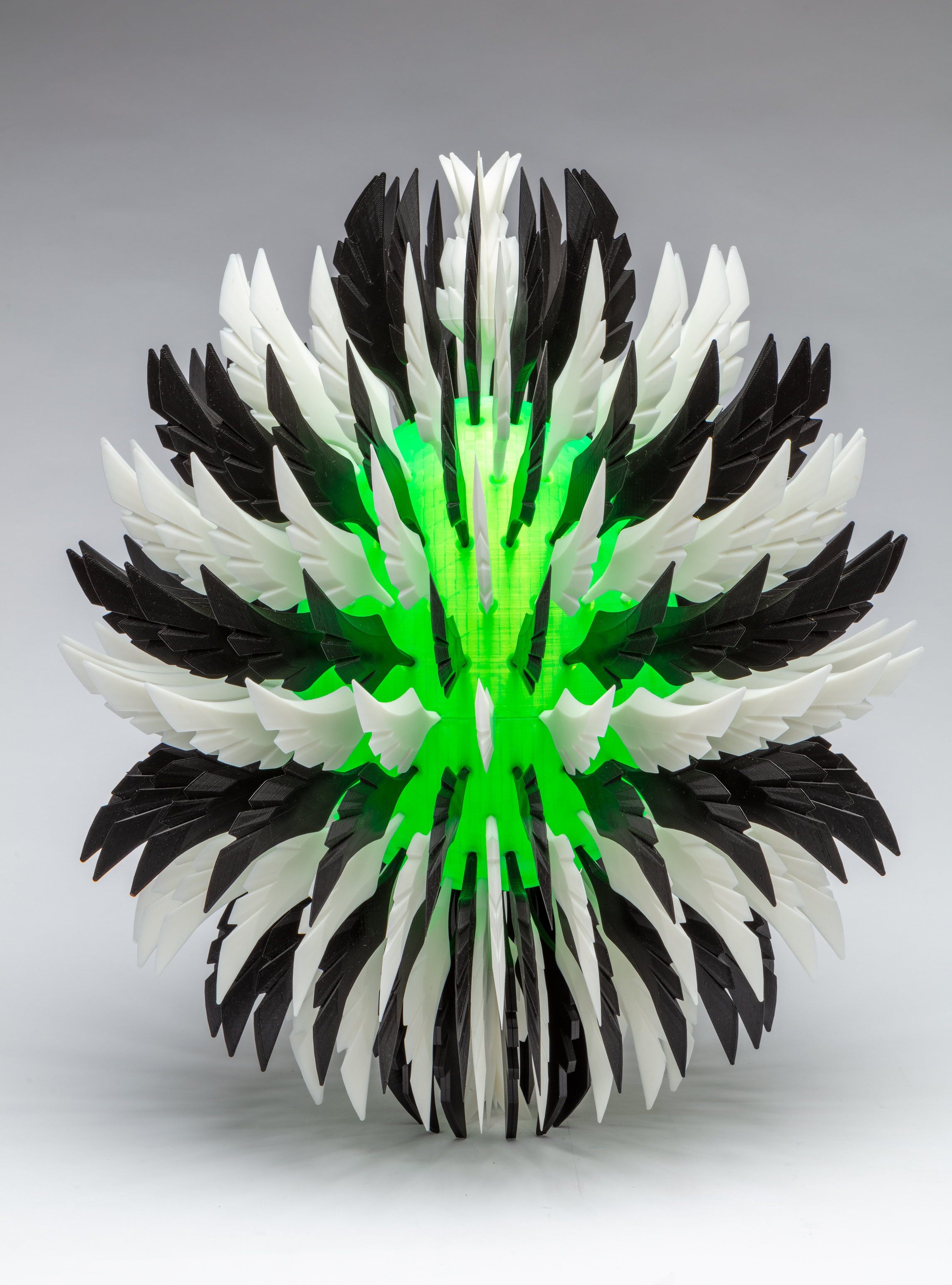 Feathered Egg,  2018 PLA 19 x 16 x 16 inches