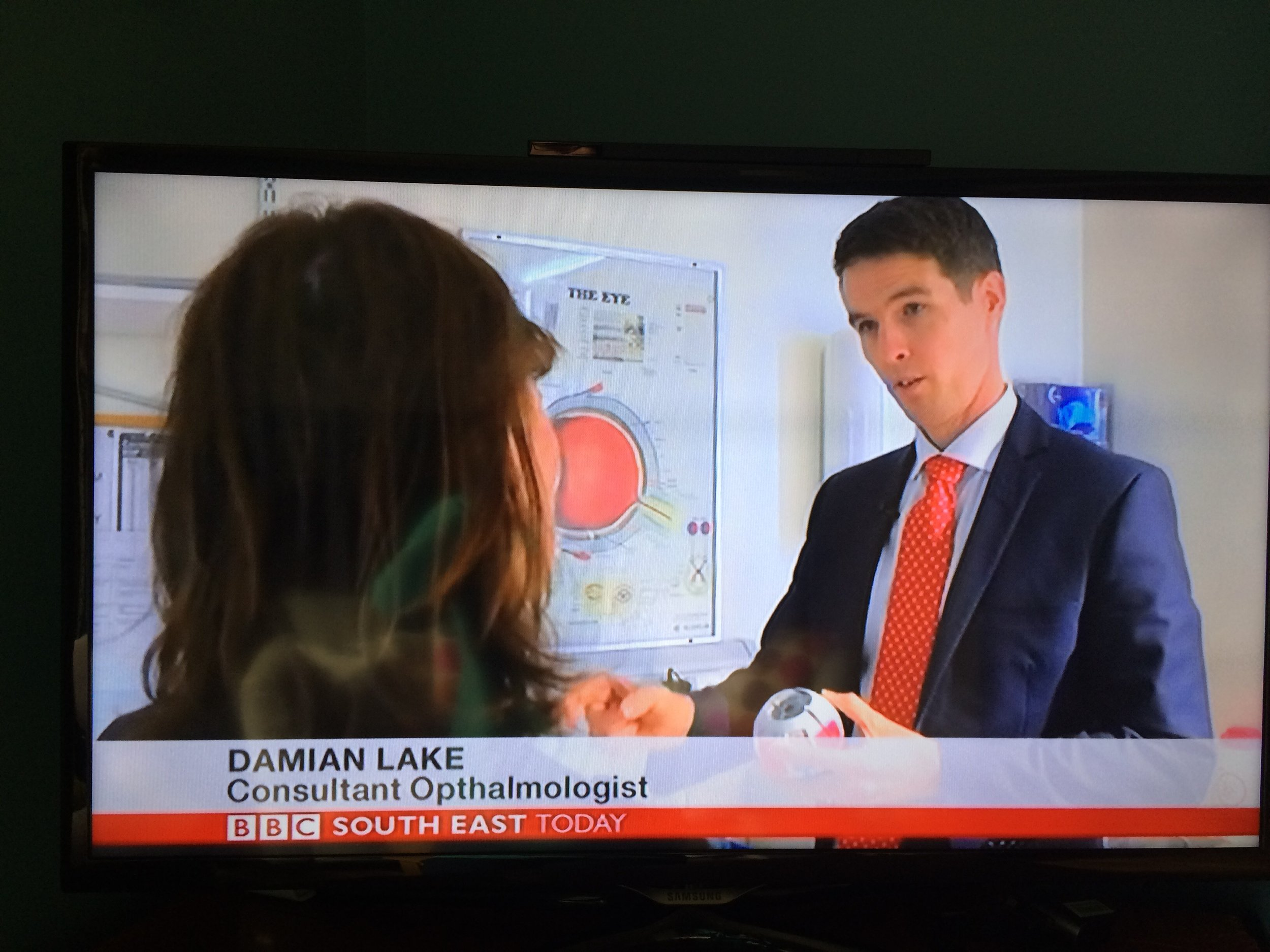 Mr Damian Lake discusses the importance of donors in Corneal Transplantation on the BBC