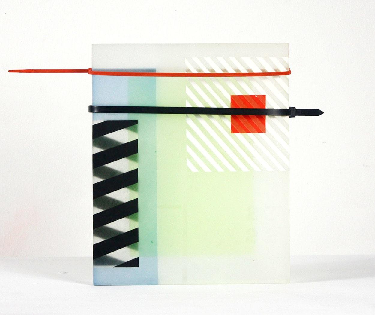 Future Antique  2018  Acrylic Paint, Epoxy Resin, Zip Ties  12 in x 10 in x 1 in