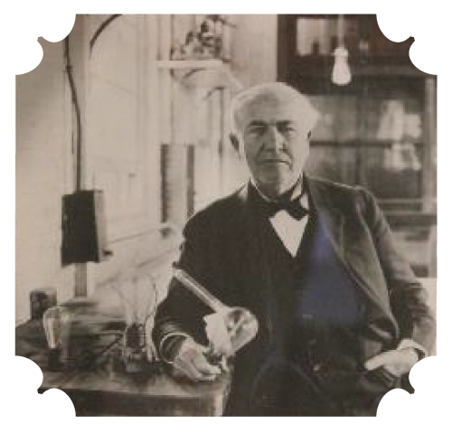 Thomas Edison - The Thomas Edison Exhibit features artifacts relating to the life and work of The Wizard of Menlo Park. Local citizen Aurelius Hornor was an employee of Edison's for many years and helped to secure the items for the exhibit when the museum opened in 1930.