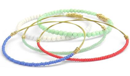 bangle-bracelet-set-coral-mint