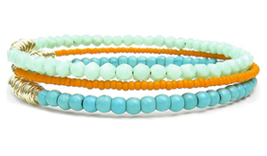 DesignSea-jewelry-beaded-bracelets-orange