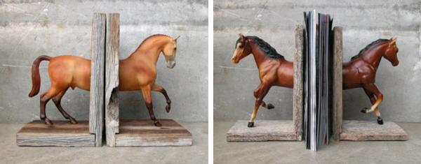 53.  Chestnut horse bookends  by  Equine by Lauren Radvansky   54.  Horse head bookends  by  Equine by Lauren Radvansky