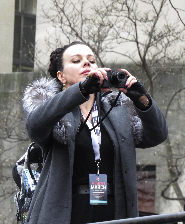 Debi Mazar at Women's March on Washington