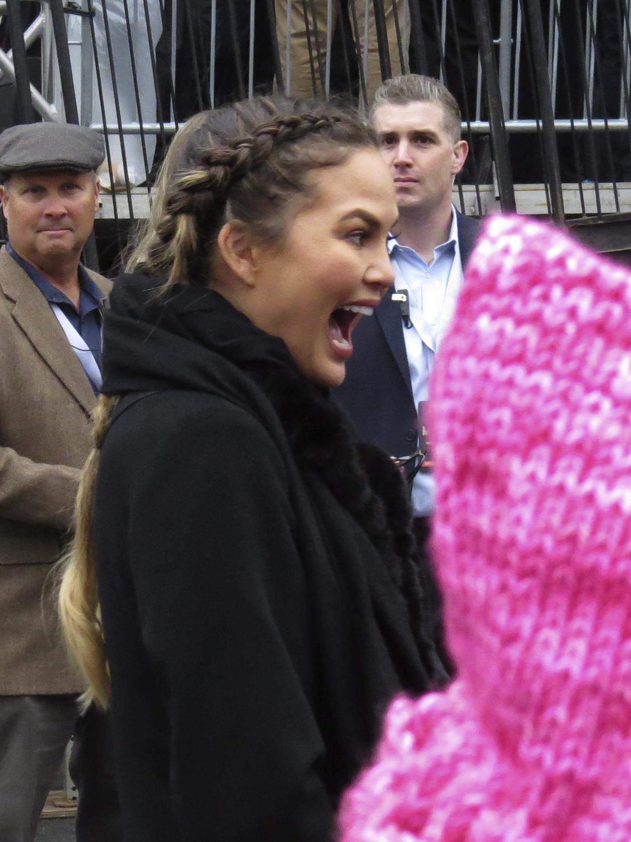 Christine Teigen at Women's March on Washington