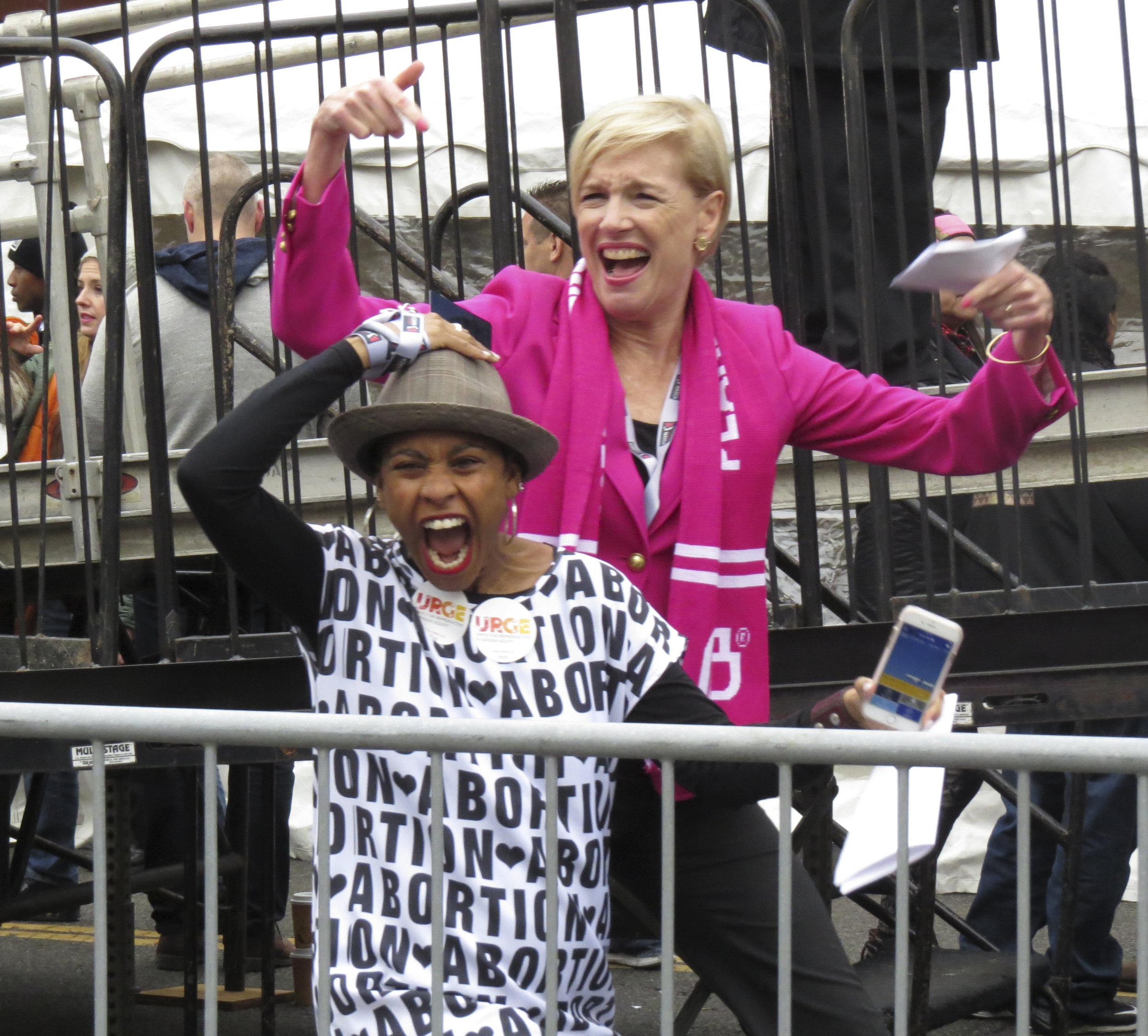 Planned Parenthood President Cecile Richards at Women's March on Washington