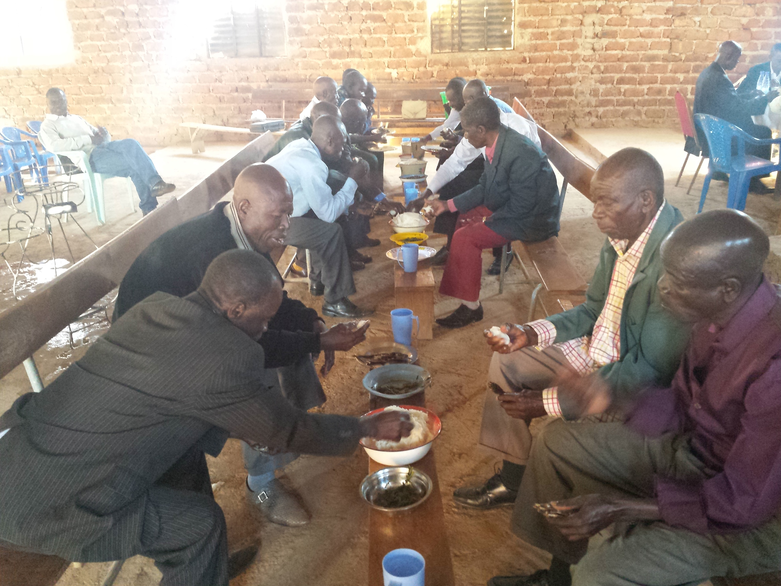 Lunch with the saints after the gospel meeting