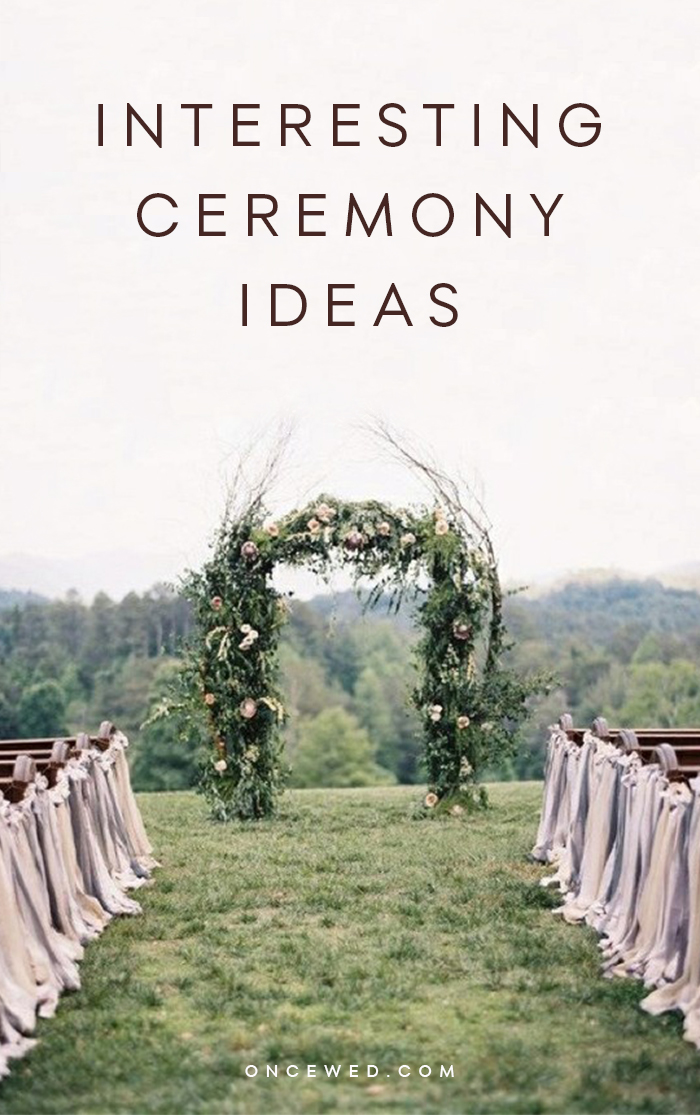 Interesting Ceremony Ideas from OnceWed