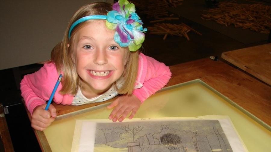 Light tables & smiles brighten days!