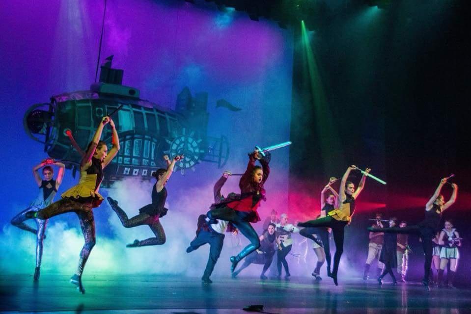 """Stage set design for Citadel Dance and Music Center's """"Steamed Nutcracker"""""""