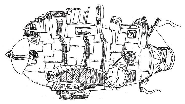 Zeppelin design by Logan Runyon, age 13