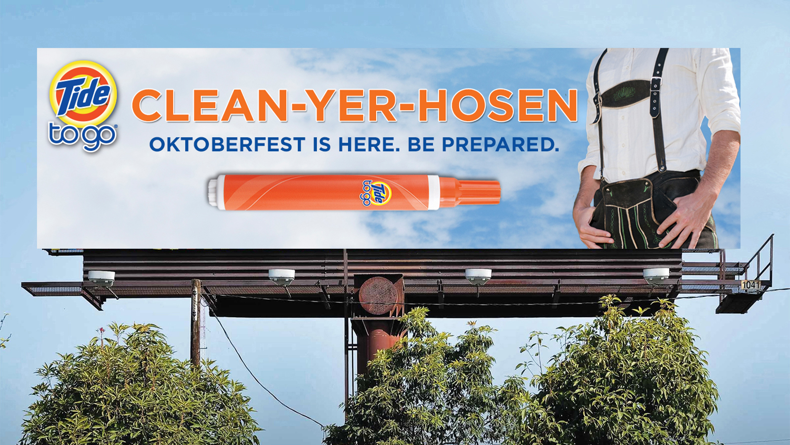 Billboard in Cincinnati - this was relevant to the Cincinnati Oktoberfest, which is the largest in the US.