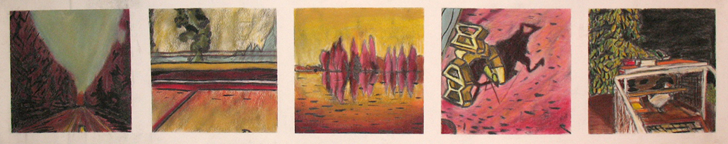 2006 15x42 Pastel, Ink on Paper