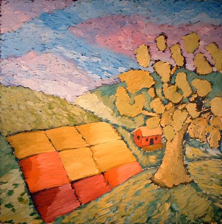 2005 48x48 Oil on Wood