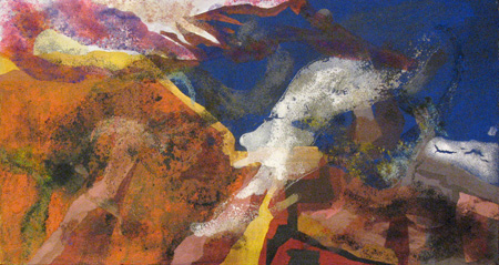 2009 40x12 Acrylic, Pigment on Canvas