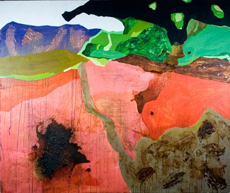 2007 60x48 Acrylic, Pigment on Canvas