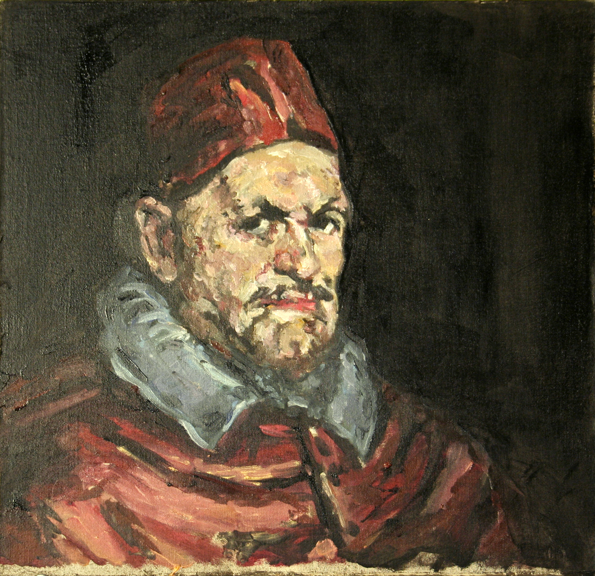 2008  Copy of Valazquez's Pope Innocent X , 12x12 Oil on Muslin,