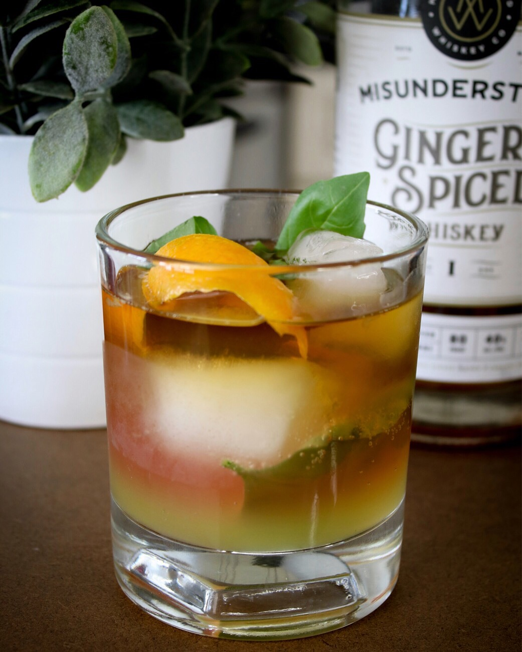 Old Fashioned Basil Spritzer