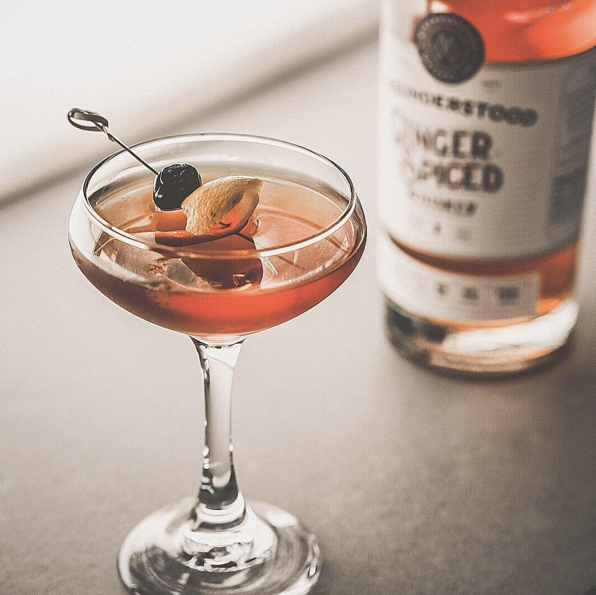 Ginger Manhattan Cocktail Misunderstood Whiskey