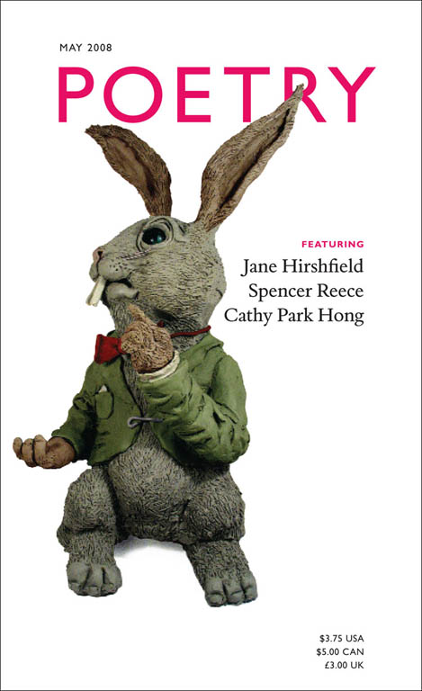Poetry magazine chose this Mr Clay Rabbit for their quarterly publication.