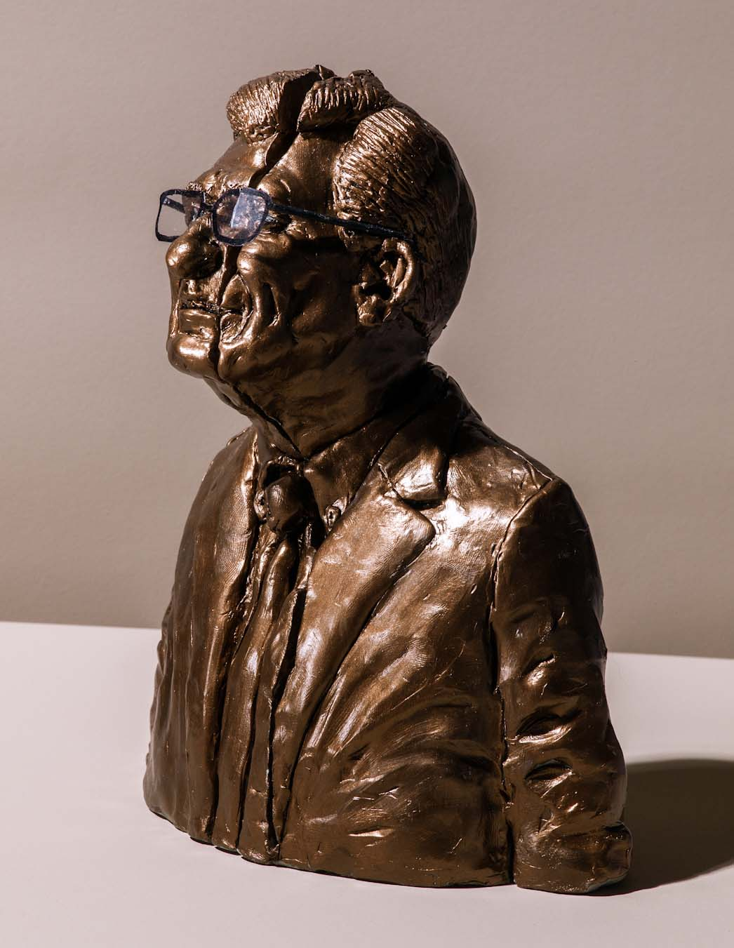 Joe Paterno #2 in gold and sliced (photo by Grant Cornett for The New Yorker)