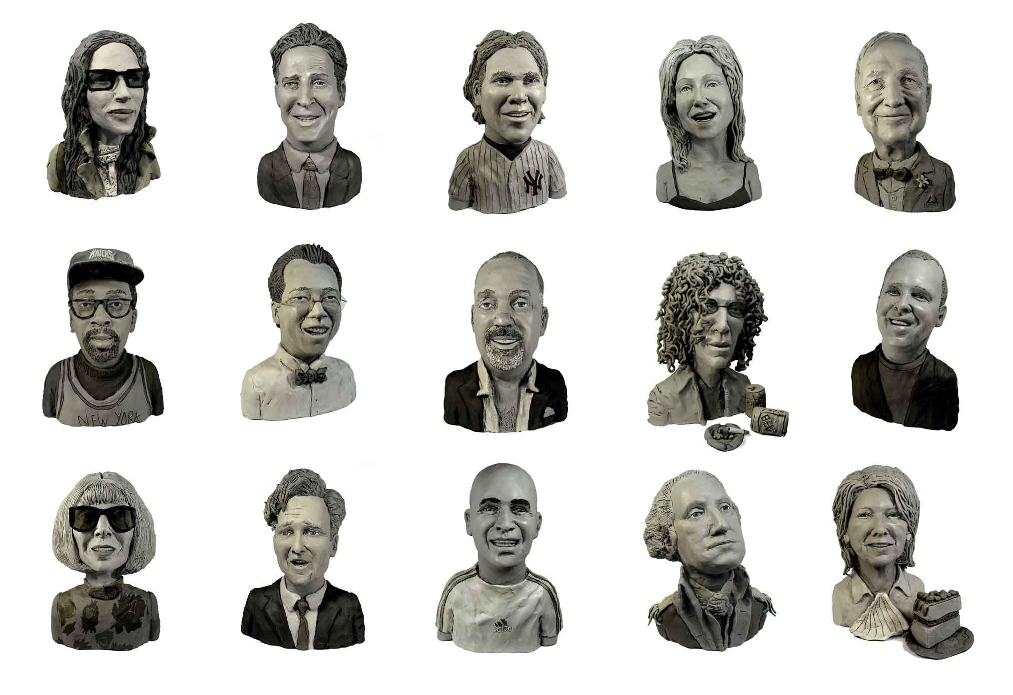 """As seen in the """"The Week"""" section of New York Magazine, 52 heads in over 500 different poses."""