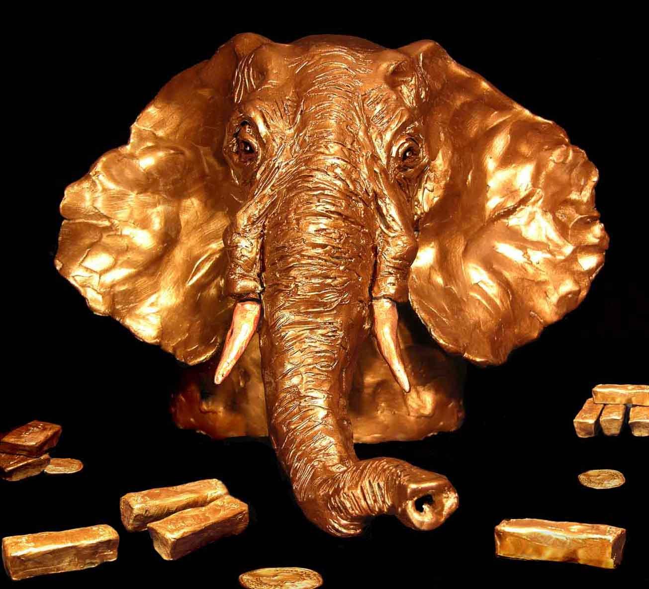 Gold Republican Elephant
