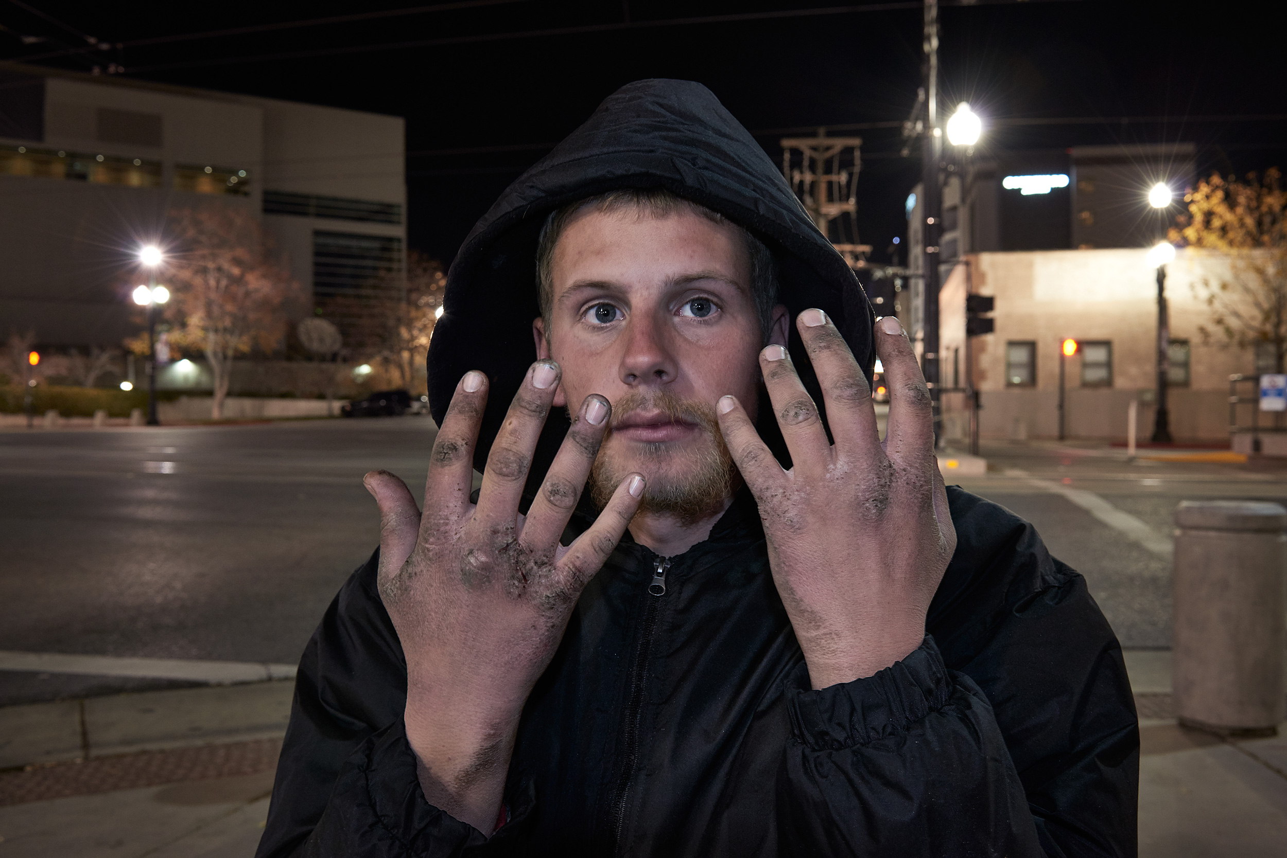 This is a project on homelessness commissioned by Hotel RL to raise funds for homeless shelters in various locations across the United States.