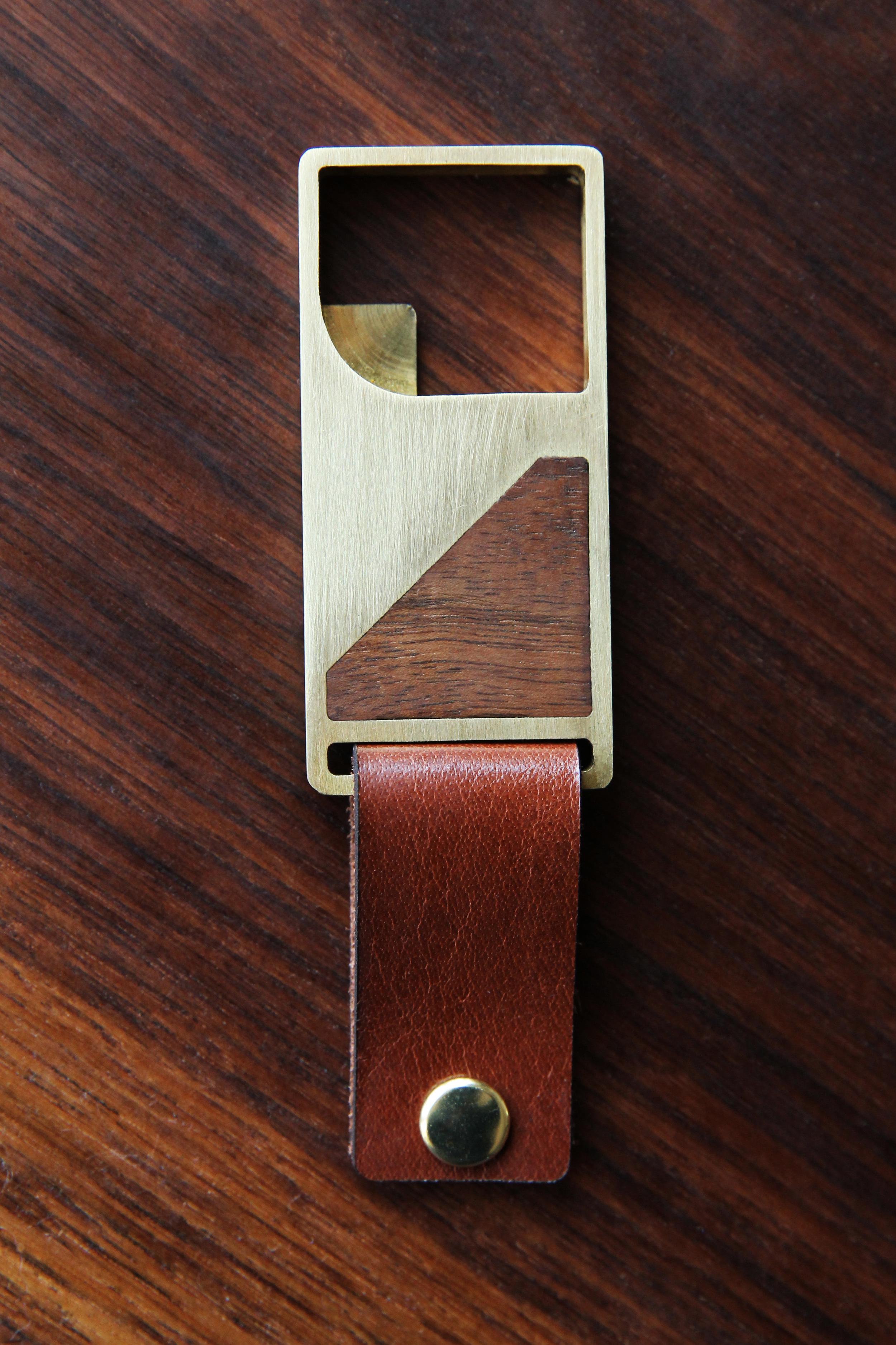 Brass & Walnut Bottle Opener